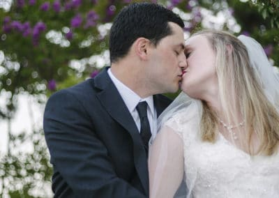 BrightWater Bay Wedding Kiss